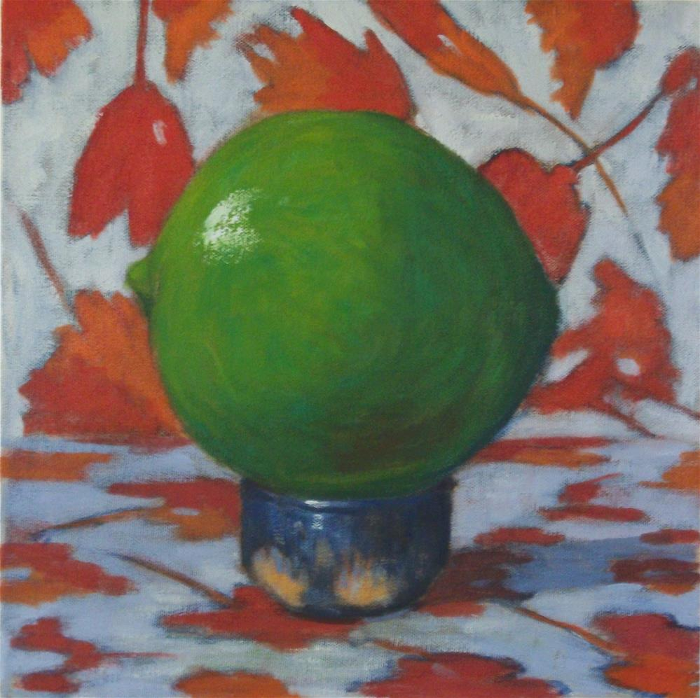 """Lime on a Salt Cellar"" original fine art by Katharine March"