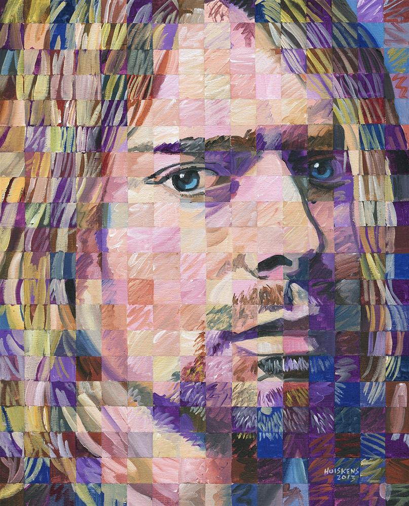 """Kurt Cobain"" original fine art by Randal Huiskens"