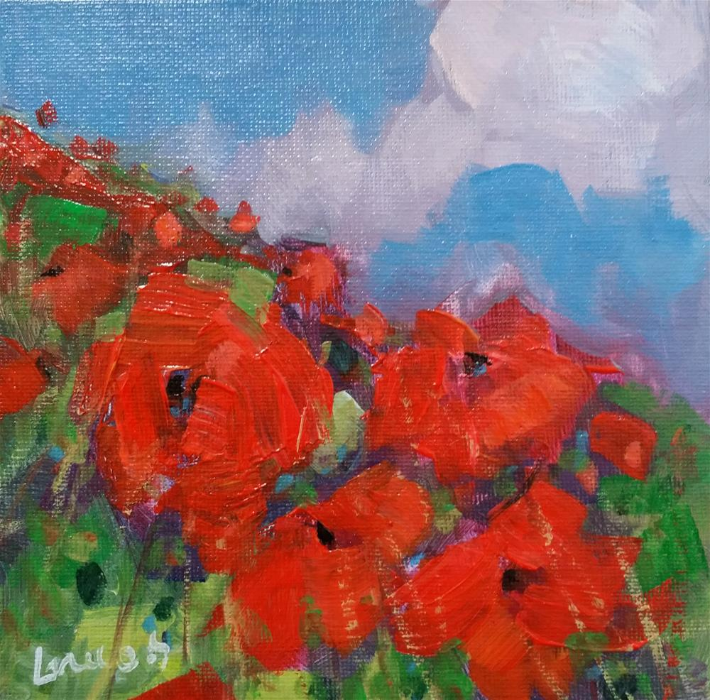 """poppy fields #2"" original fine art by salvatore greco"