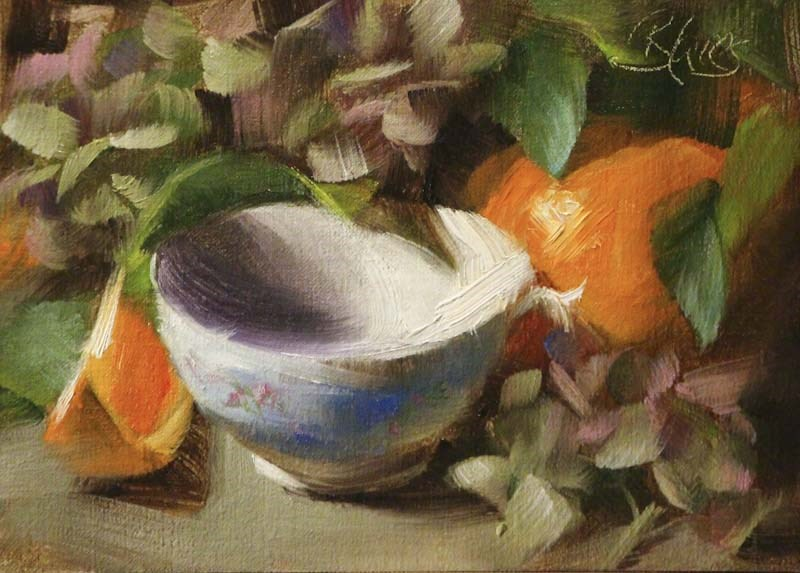 """Summer Tea"" original fine art by Pamela Blaies"