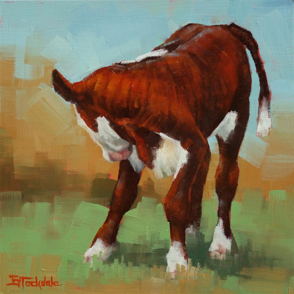 """Calf Study"" original fine art by Margaret Stockdale"