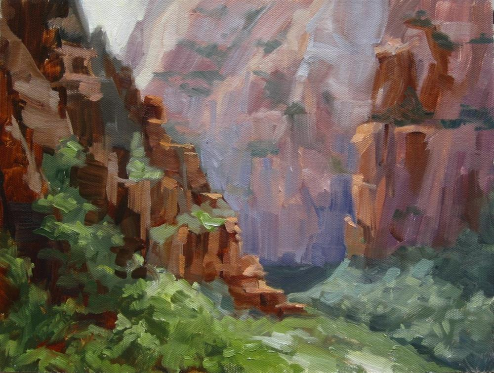 """Weeping Rock View"" original fine art by Karen Werner"