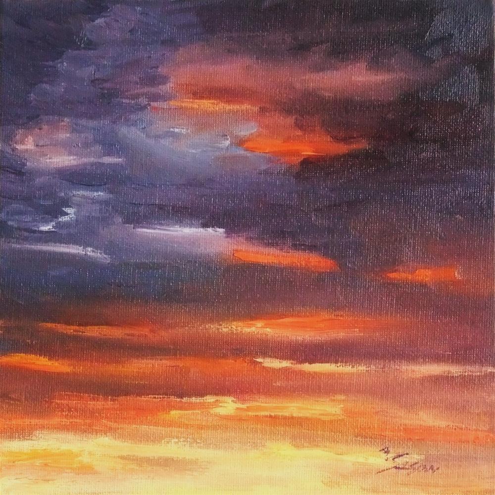 """Cloudy sky"" original fine art by Michael Sason"