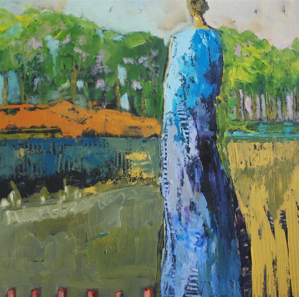 """""""In The Garden"""" original fine art by Deborah Harold"""