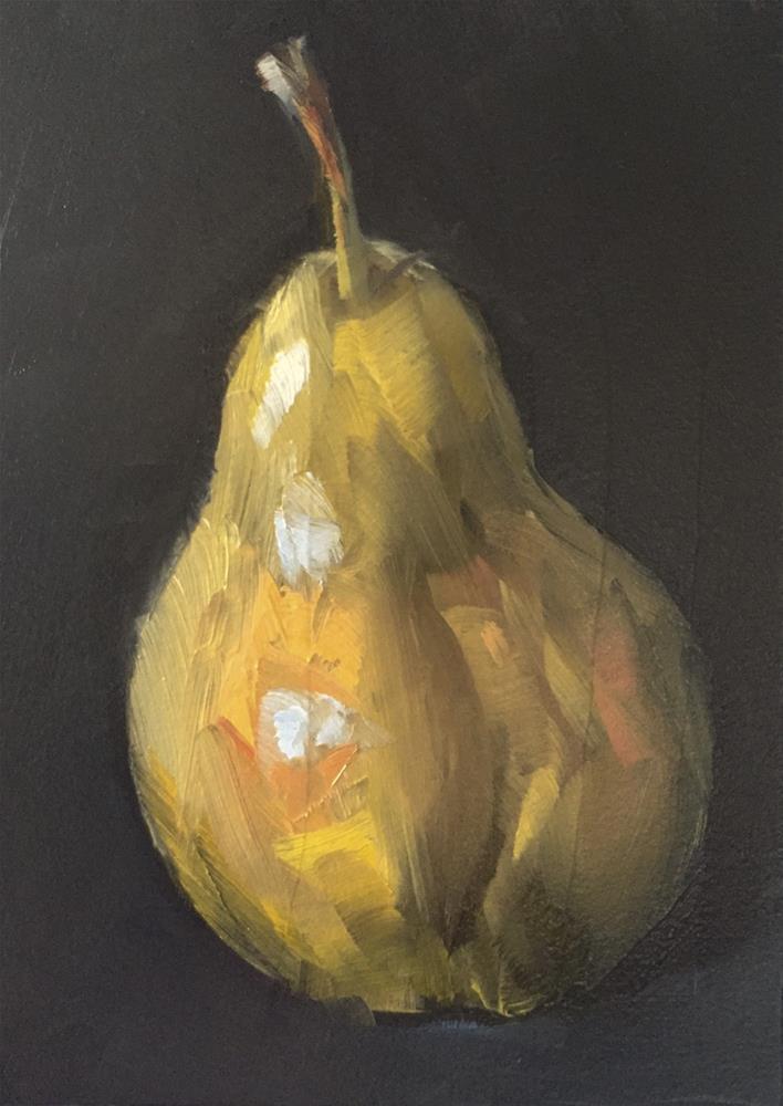 """Bartlett Pear"" original fine art by Gary Bruton"