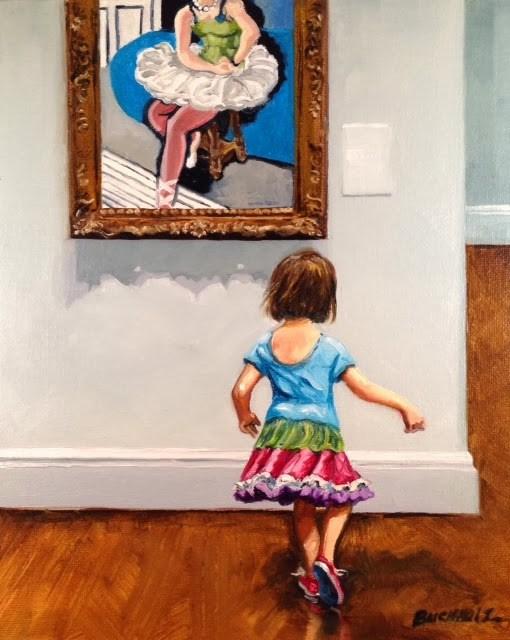 """Two Tutus"" original fine art by Terri Buchholz"