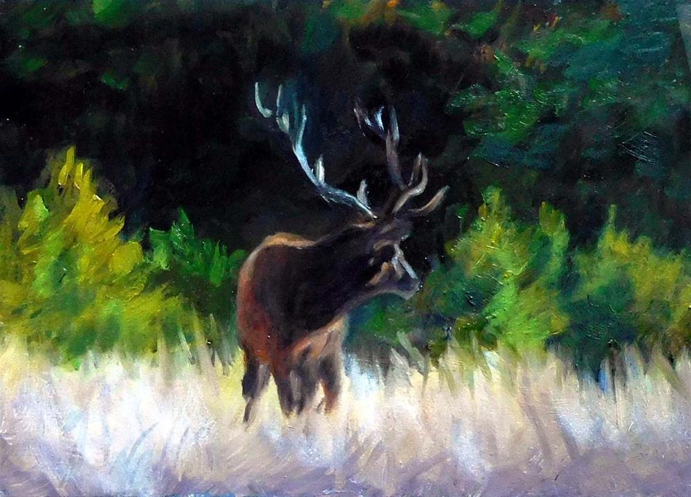 """The Buck Stops Here"" original fine art by Cietha Wilson"