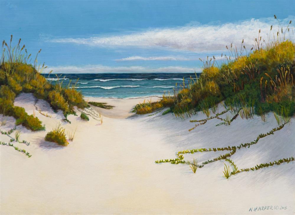"""Sand Dunes"" original fine art by Nelia Harper"