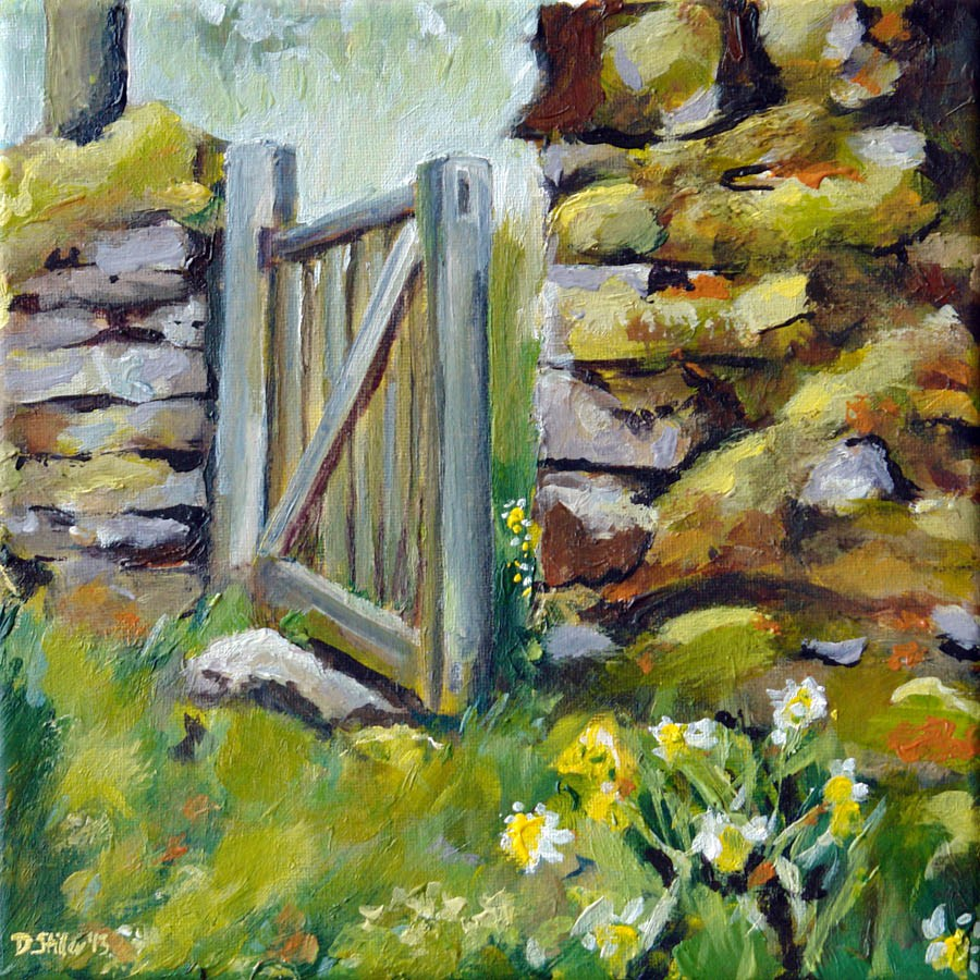 """0602 Irish Spring - Irischer Frühling"" original fine art by Dietmar Stiller"