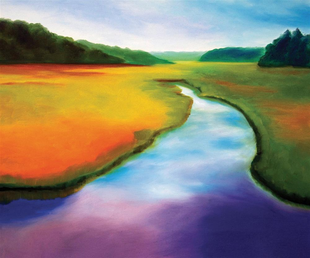 """River Marsh Prism"" original fine art by Susan Bertocci"
