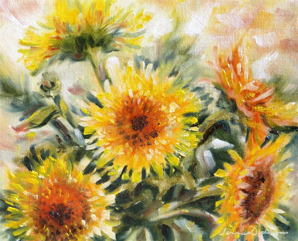 """Summer Sunflowers"" original fine art by Tammie Dickerson"