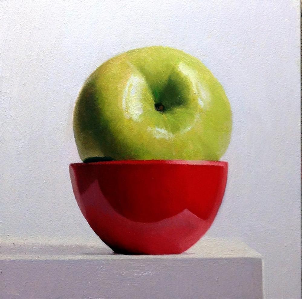 """""""#376 Vert Sur Rouge"""" original fine art by Brian Burt"""