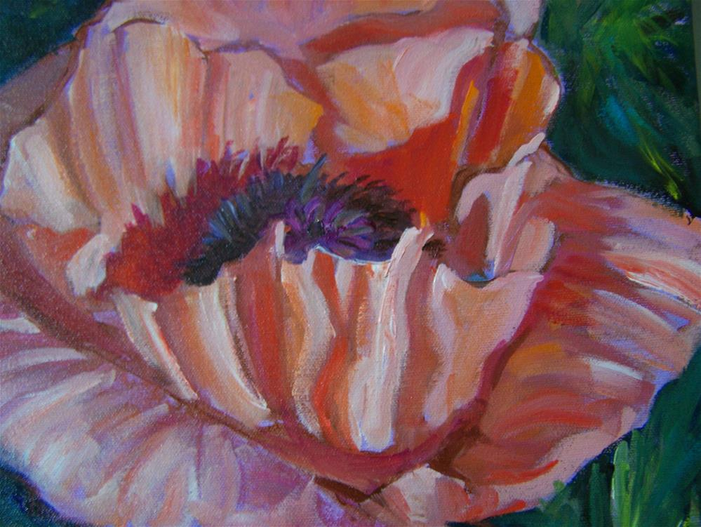 """Poppy"" original fine art by Joan Reive"