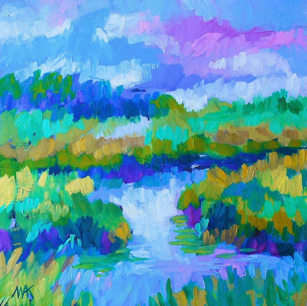 """Marsh Colors"" original fine art by Mary Anne Cary"