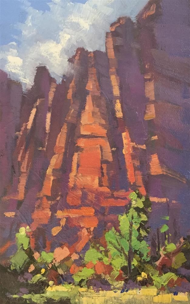 """Red Rock Towers"" original fine art by Mary Jabens"