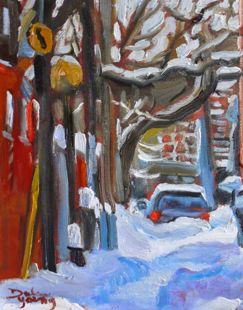 """784 Montreal Winter Le Plateau Mont-Royal"" original fine art by Darlene Young"