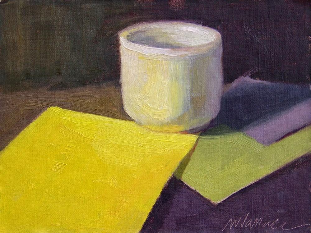 """Hello yellow"" original fine art by Nancy Wallace"