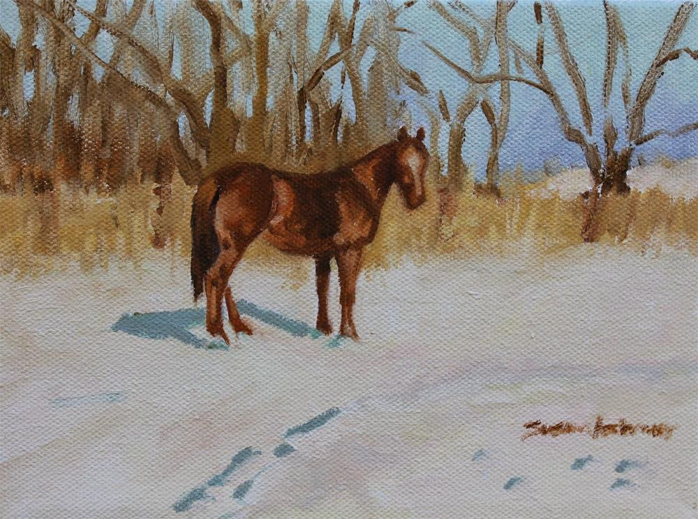 """Winter's Calm       6 x 8 in"" original fine art by Susan Ashmore"