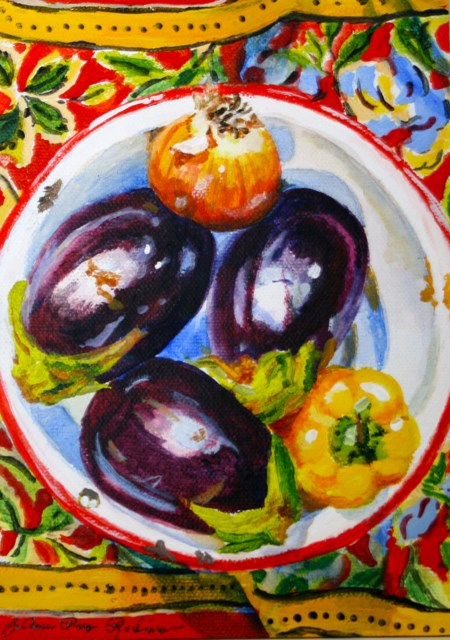 """Eggplant Tonight!"" original fine art by JoAnne Perez Robinson"