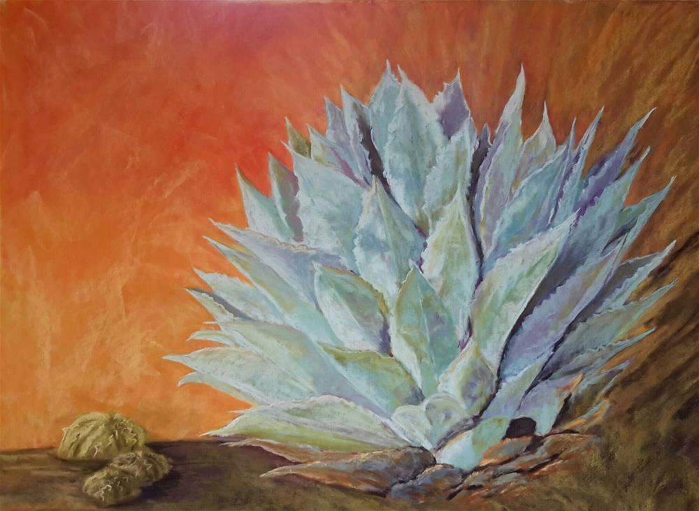 """Agave Sunrise"" original fine art by Anna Lisa Leal"