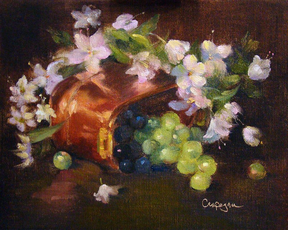 """Copper, Pinks and Grapes"" original fine art by Roseanne Campagna"