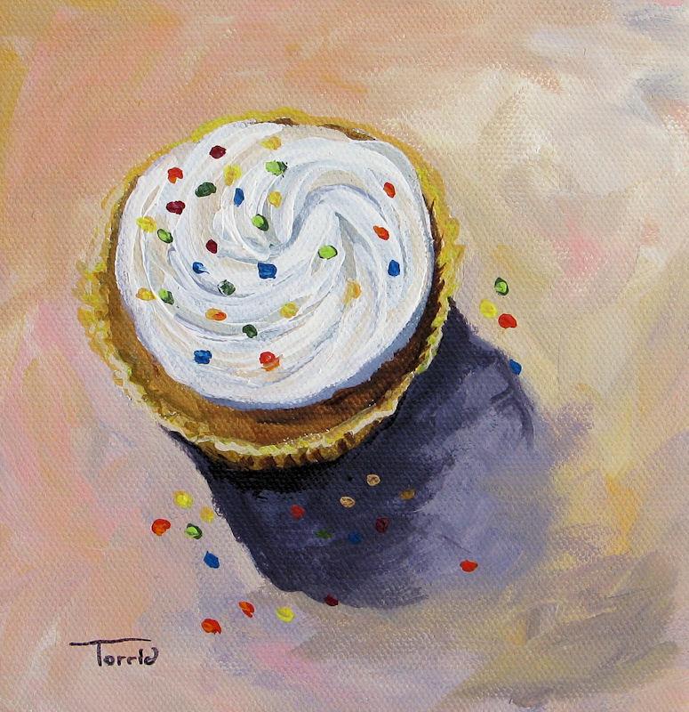 """Confetti Cupcake"" original fine art by Torrie Smiley"