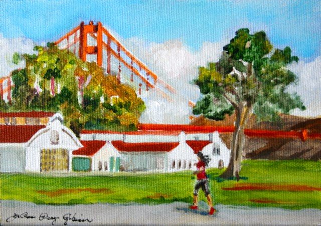 """Presidio Run"" original fine art by JoAnne Perez Robinson"