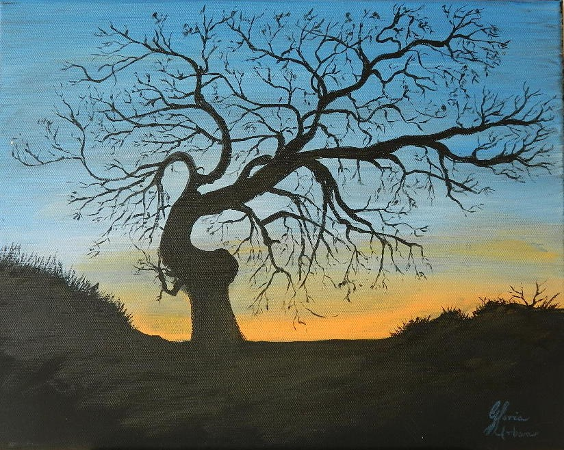 """Standing Alonge"" original fine art by Gloria Urban"