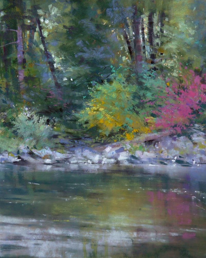 """Wenatchee Riverbank"" original fine art by Barbara Benedetti Newton"