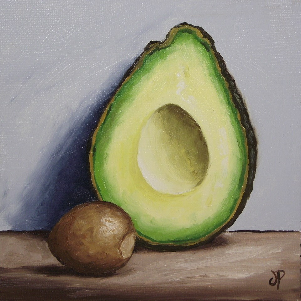 """Avocado stoned"" original fine art by Jane Palmer"