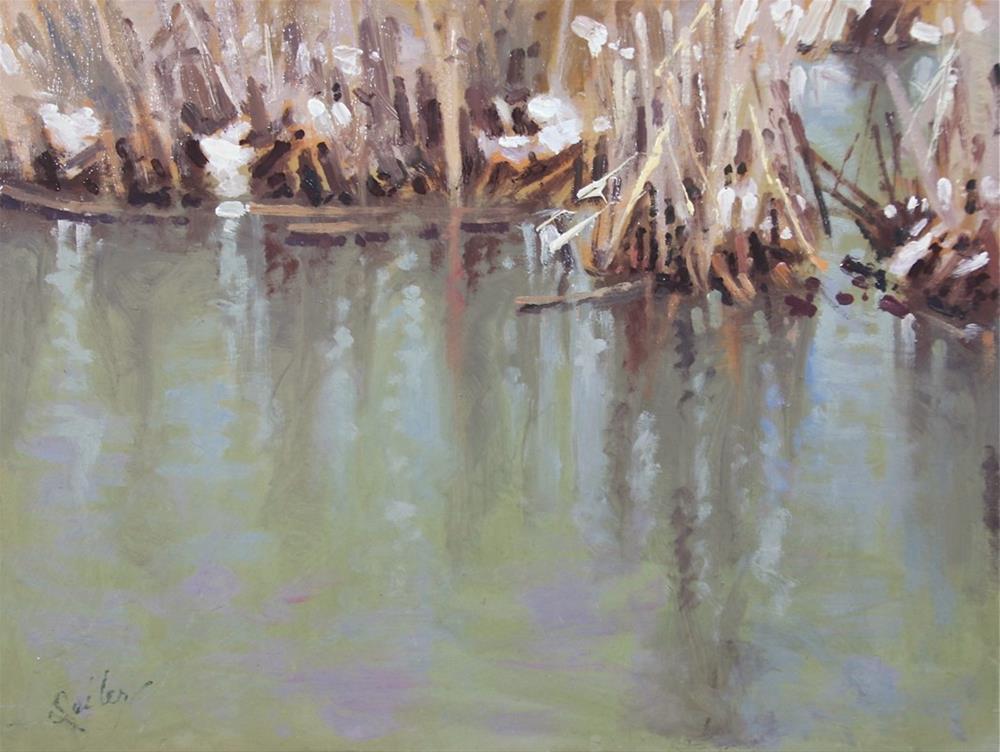 """""""Late Spring Marsh"""" original fine art by Larry Seiler"""
