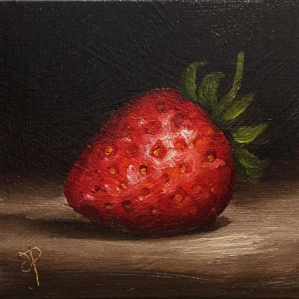 """Little strawberry"" original fine art by Jane Palmer"
