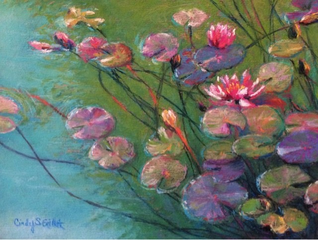 """Lily Pad Down Under"" original fine art by Cindy Gillett"