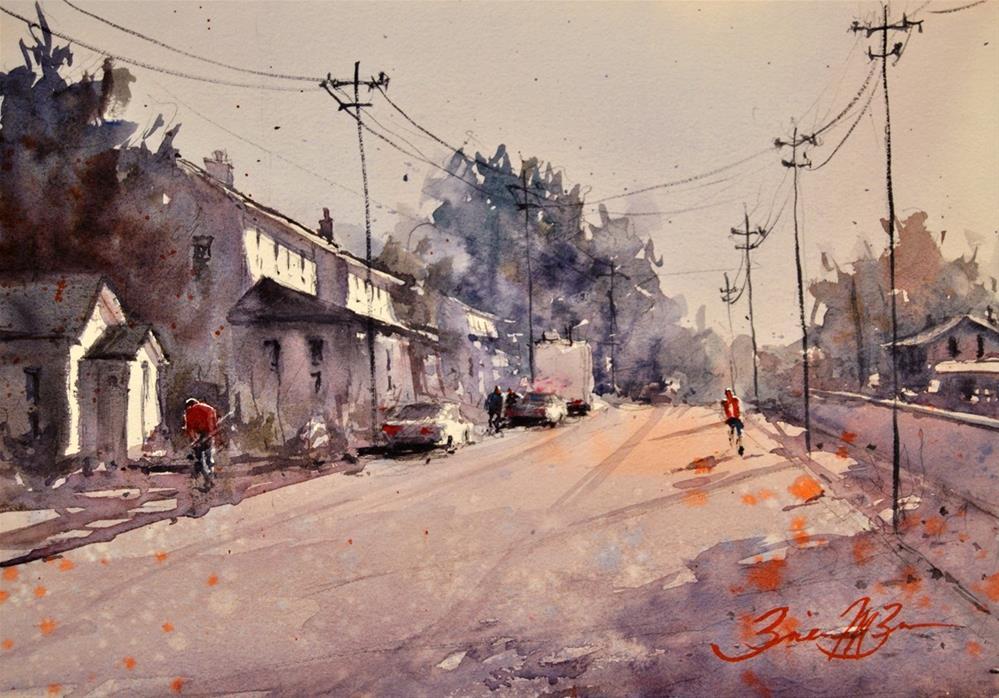 """Village of Julian"" original fine art by Brienne M Brown"