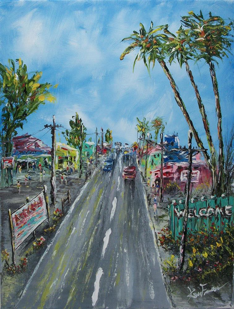 """Art District"" original fine art by Ken Fraser"