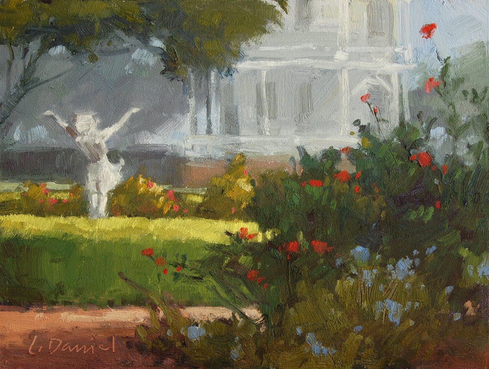 """Garden Embrace"" original fine art by Laurel Daniel"