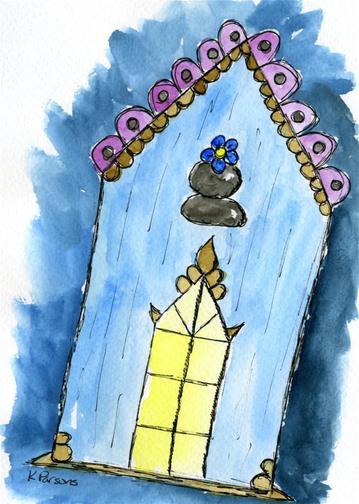 """""""Blue and Lit"""" original fine art by Kali Parsons"""
