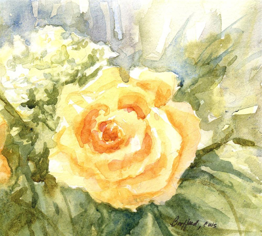 """Yellow Rose"" original fine art by Vikki Bouffard"