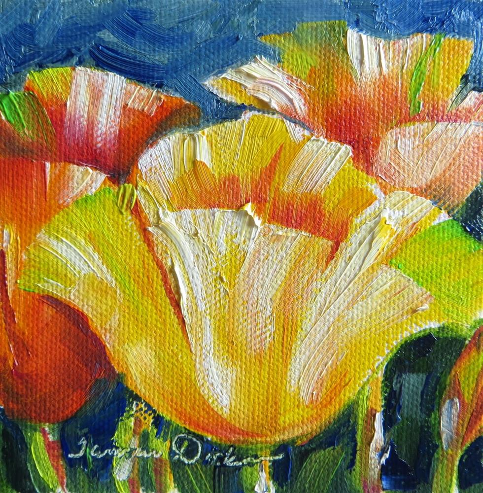 """Tropical Tulips"" original fine art by Tammie Dickerson"