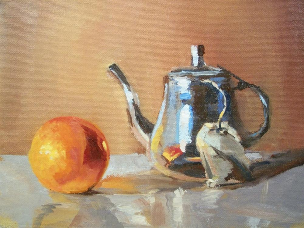 """ ORANGE TEA "" original fine art by Doug Carter"