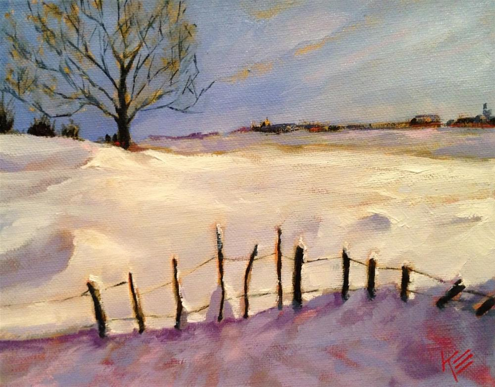 """Winters Warmth"" original fine art by Krista Eaton"