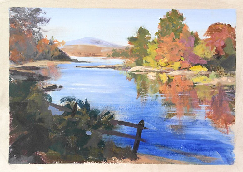 """Adirondack Autumn"" original fine art by Jamie Williams Grossman"