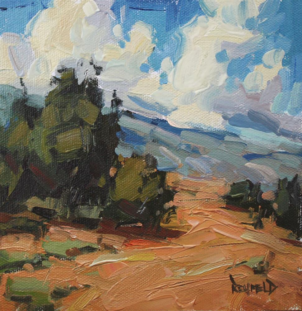 """""""Colors of a New Mexico Landscape"""" original fine art by Cathleen Rehfeld"""