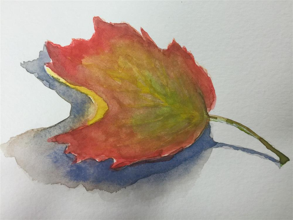 """Autumn Leaf"" original fine art by Barbara Beckmann"