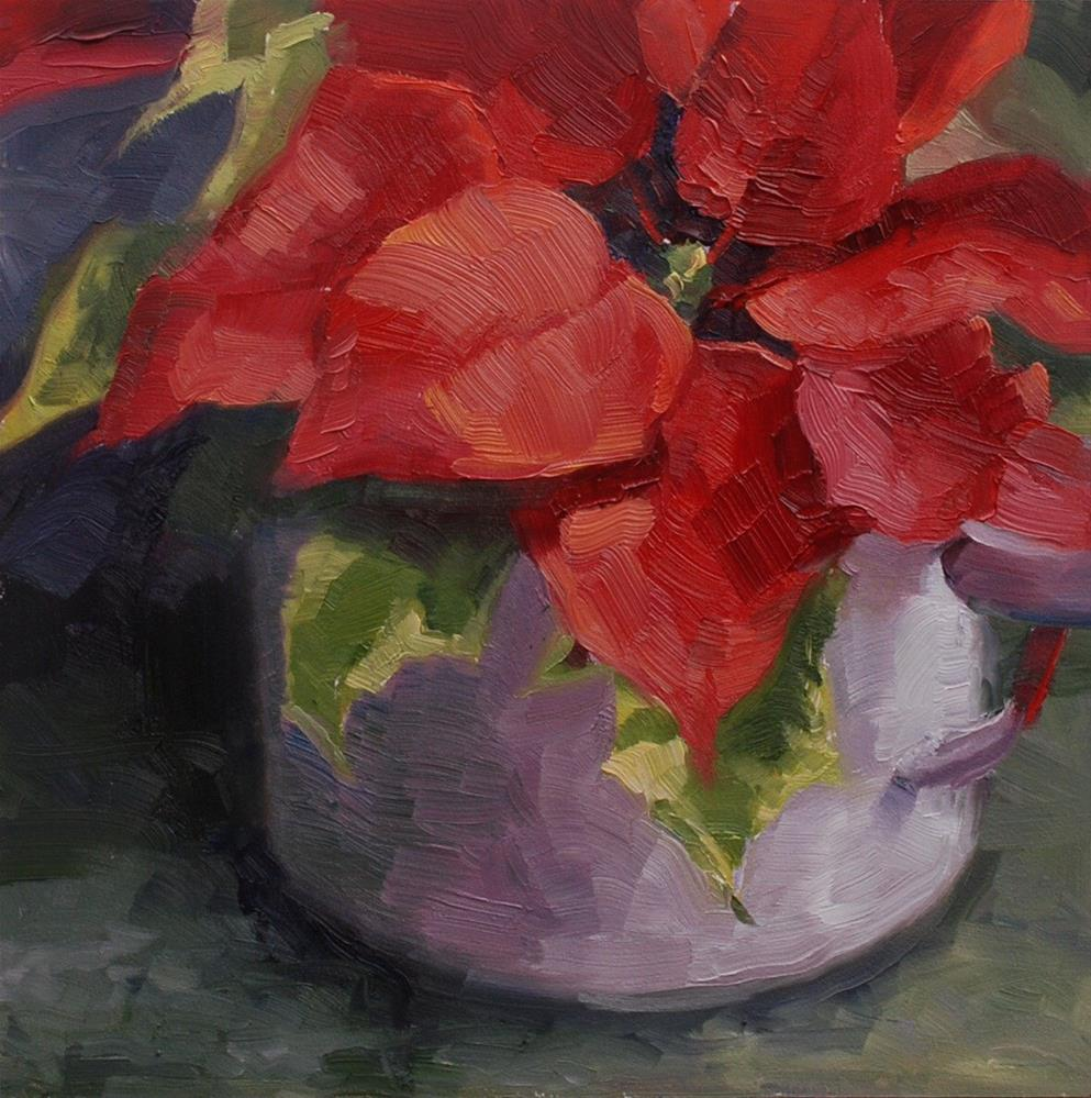"""Return of the Poinsettia #2"" original fine art by Susan McManamen"