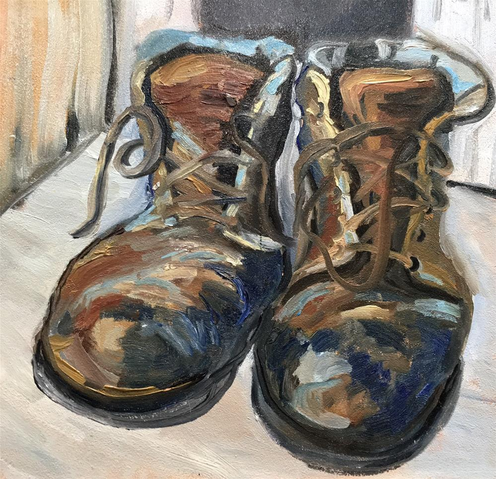 """Colorful Boots"" original fine art by Judith Anderson"