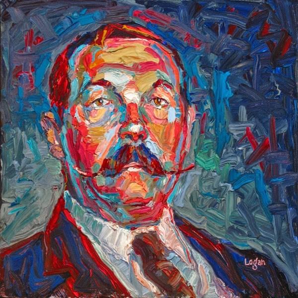"""Sir Arthur Conan Doyle"" original fine art by Raymond Logan"