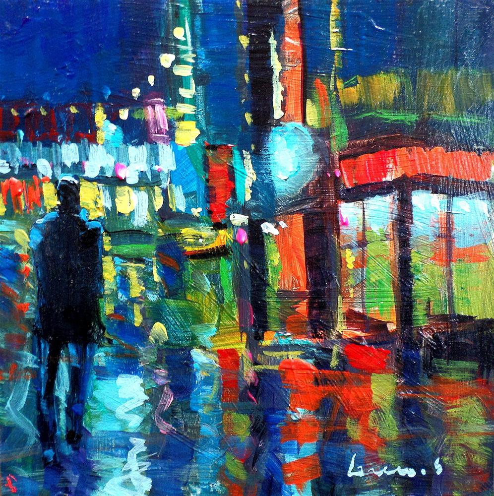 """in the citynew york"" original fine art by salvatore greco"