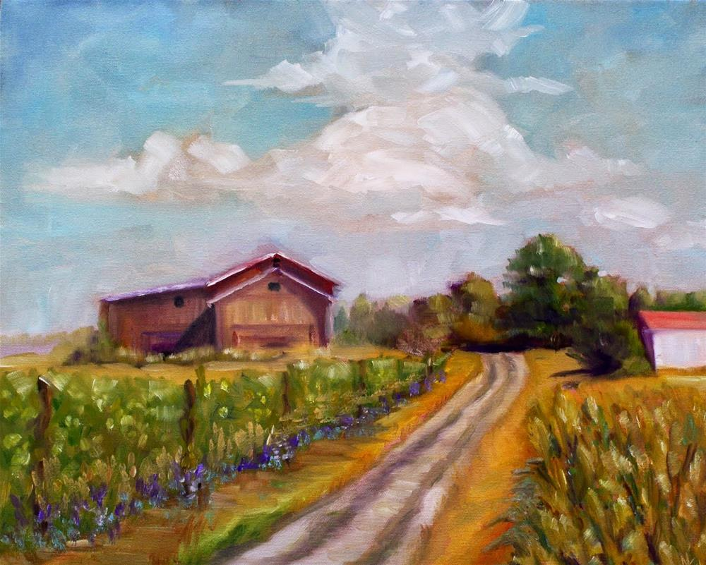 """Old South Hill Road"" original fine art by Maggie Flatley"