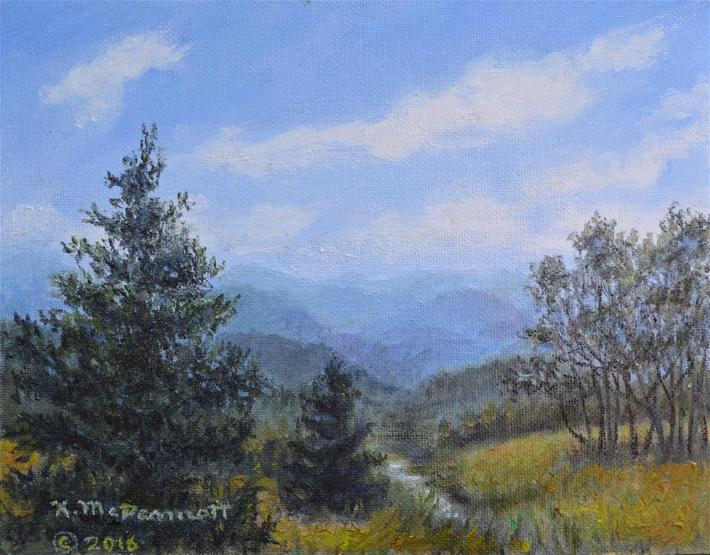 """""""Blue Ridge Stream (C) 2016 by K. McDermott"""" original fine art by Kathleen McDermott"""